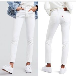 NEW Levi's 501 skinny white jeans size 26